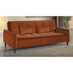 Sofa-Cama-3-Lugares-Ocre-em-Veludo-210m-Roisey---Ambiente