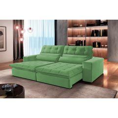 Sofa-Retratil-e-Reclinavel-4-Lugares-Verde-270m-Renzo---Ambiente