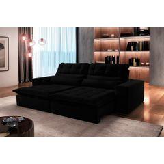 Sofa-Retratil-e-Reclinavel-4-Lugares-Preto-270m-Renzo---Ambiente