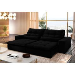 Sofa-Retratil-e-Reclinavel-3-Lugares-Preto-210m-Nouvel---Ambiente
