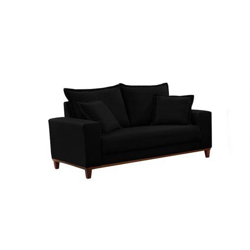 Sofa-2-Lugares-Preto-em-Veludo-156m-Diller