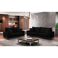 Sofa-2-Lugares-Preto-em-Veludo-156m-Diller---Ambiente