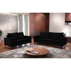 Sofa-2-Lugares-Preto-em-Veludo-156m-Meier---Ambiente