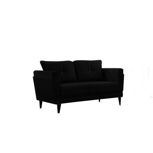 Sofa-2-Lugares-Preto-em-Veludo-139m-Bardi