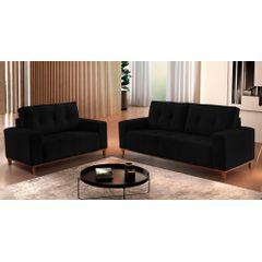 Sofa-2-Lugares-Preto-em-Veludo-140m-Duany---Ambiente