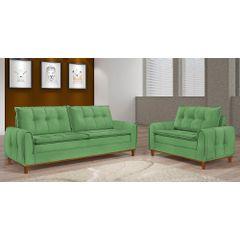 Sofa-2-Lugares-Verde-em-Veludo-122m-Kliass---Ambiente