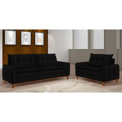 Sofa-3-Lugares-Preto-em-Veludo-212m-Kliass---Ambiente