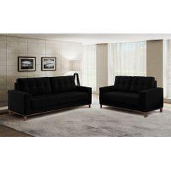 Sofa-2-Lugares-Preto-em-Veludo-157m-Lerner---Ambiente