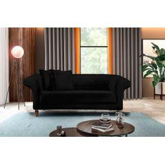Sofa-2-Lugares-Preto-em-Veludo-180m-Rolnik---Ambiente