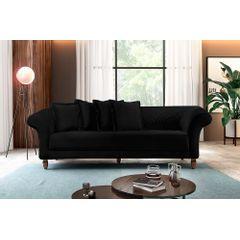 Sofa-3-Lugares-Preto-em-Veludo-240m-Rolnik---Ambiente