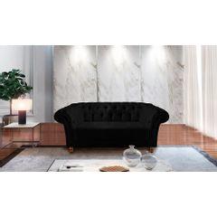 Sofa-2-Lugares-Preto-em-Veludo-184m-Zaha---Ambiente