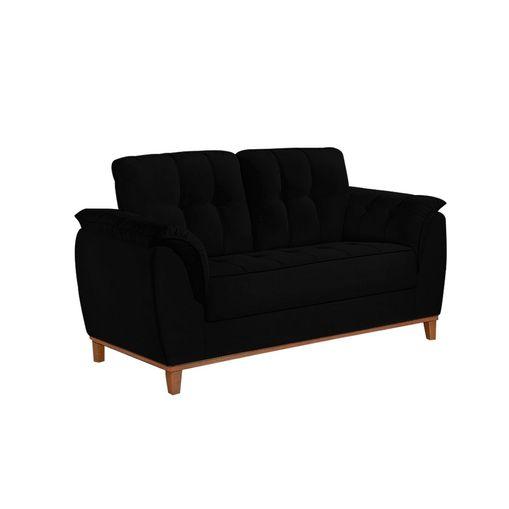 Sofa-2-Lugares-Preto-em-Veludo-157m-Boeri