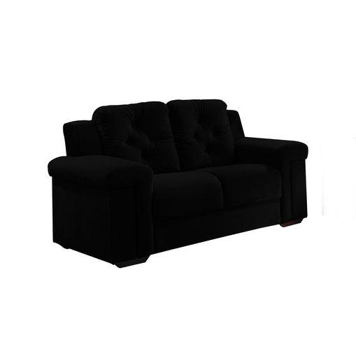 Sofa-2-Lugares-Preto-em-Veludo-162m-Pelli