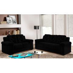 Sofa-2-Lugares-Preto-em-Veludo-162m-Pelli---Ambiente