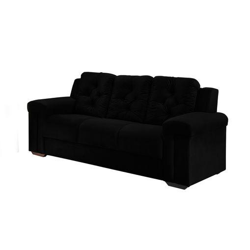 Sofa-3-Lugares-Preto-em-Veludo-211m-Pelli