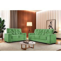 Sofa-2-Lugares-Verde-em-Veludo-150m-Ieoh---Ambiente