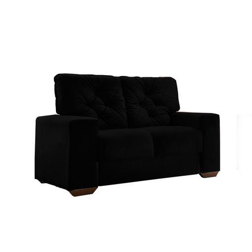 Sofa-2-Lugares-Preto-em-Veludo-150m-Ieoh