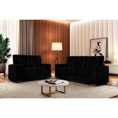 Sofa-2-Lugares-Preto-em-Veludo-150m-Ieoh---Ambiente