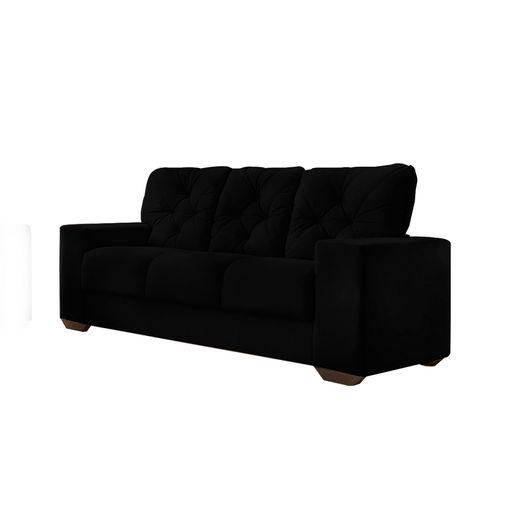 Sofa-3-Lugares-Preto-em-Veludo-200m-Ieoh