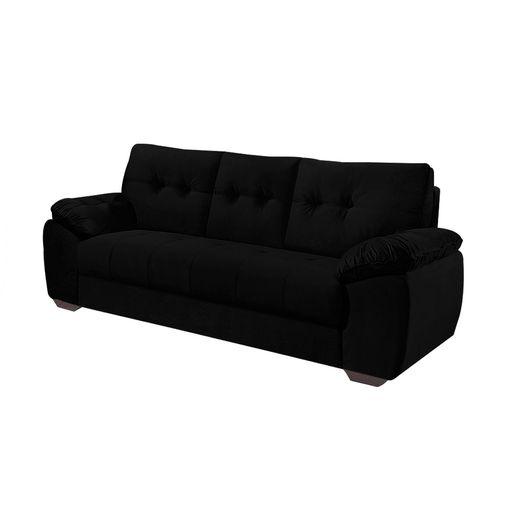 Sofa-3-Lugares-Preto-em-Veludo-212m-Mies