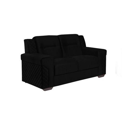 Sofa-2-Lugares-Preto-em-Veludo-150m-Fuller