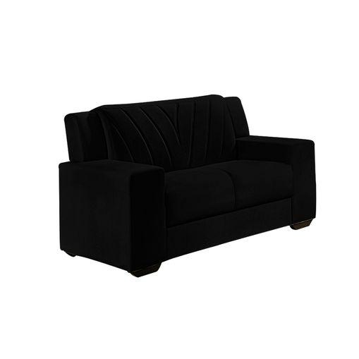 Sofa-2-Lugares-Preto-em-Veludo-146m-Gehry