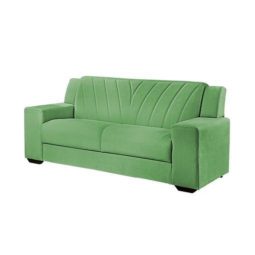Sofa-3-Lugares-Verde-em-Veludo-191m-Gehry