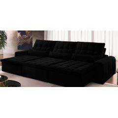 Sofa-Retratil-e-Reclinavel-6-Lugares-Preto-380m-Bayonne---Ambiente