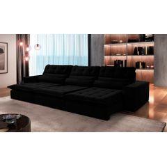 Sofa-Retratil-e-Reclinavel-6-Lugares-Preto-410m-Renzo---Ambiente