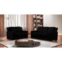 Sofa-2-Lugares-Preto-em-Veludo-148m-Siza---Ambiente