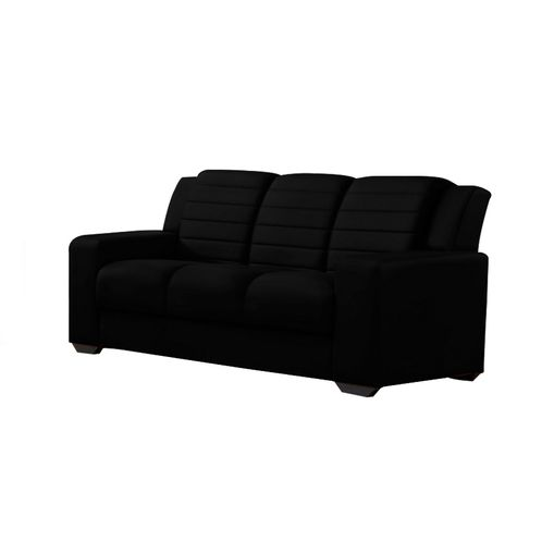 Sofa-3-Lugares-Preto-em-Veludo-198m-Siza