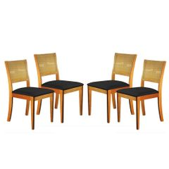Kit-4-Cadeiras-de-Jantar-Estofada-Preta-em-Veludo-Arsa