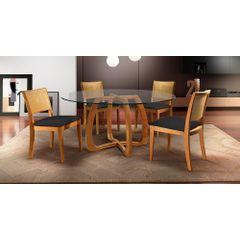 Kit-4-Cadeiras-de-Jantar-Estofada-Preta-em-Veludo-Arsa---Ambiente
