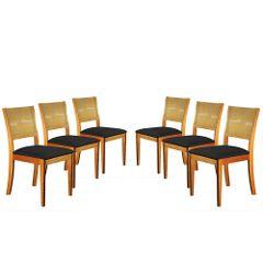 Kit-6-Cadeiras-de-Jantar-Estofada-Preta-em-Veludo-Arsa