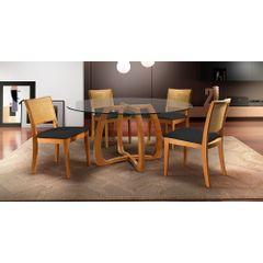 Kit-6-Cadeiras-de-Jantar-Estofada-Preta-em-Veludo-Arsa---Ambiente