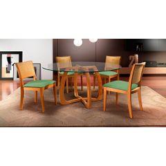 Kit-6-Cadeiras-de-Jantar-Estofada-Verde-em-Veludo-Arsa---Ambiente