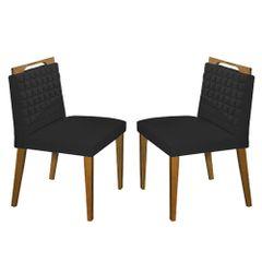 Kit-2-Cadeiras-de-Jantar-Estofada-Preta-em-Veludo-Birlik