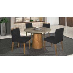 Kit-2-Cadeiras-de-Jantar-Estofada-Preta-em-Veludo-Birlik---Ambiente