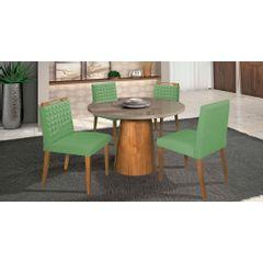 Kit-2-Cadeiras-de-Jantar-Estofada-Verde-em-Veludo-Birlik---Ambiente