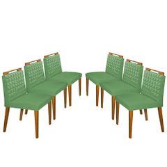 Kit-6-Cadeiras-de-Jantar-Estofada-Verde-em-Veludo-Birlik