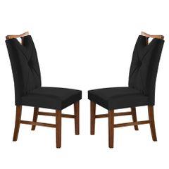 Kit-2-Cadeiras-de-Jantar-Estofada-Preta-em-Veludo-Delik