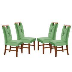 Kit-4-Cadeiras-de-Jantar-Estofada-Verde-em-Veludo-Delik