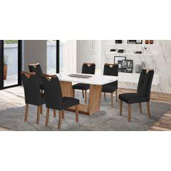 Kit-6-Cadeiras-de-Jantar-Estofada-Preta-em-Veludo-Delik---Ambiente