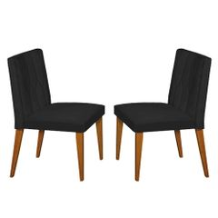 Kit-2-Cadeiras-de-Jantar-Estofada-Preta-em-Veludo-Dizayn