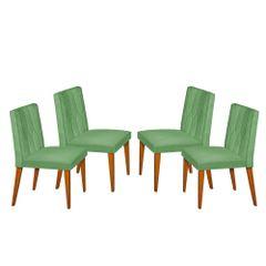 Kit-4-Cadeiras-de-Jantar-Estofada-Verde-em-Veludo-Dizayn