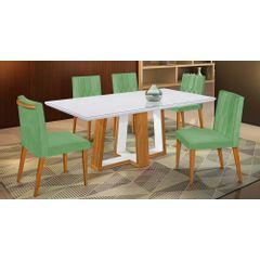 Kit-4-Cadeiras-de-Jantar-Estofada-Verde-em-Veludo-Dizayn---Ambiente