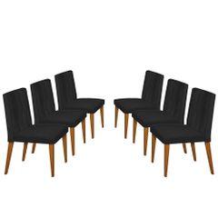 Kit-6-Cadeiras-de-Jantar-Estofada-Preta-em-Veludo-Dizayn
