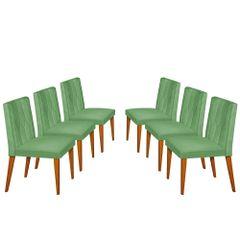 Kit-6-Cadeiras-de-Jantar-Estofada-Verde-em-Veludo-Dizayn