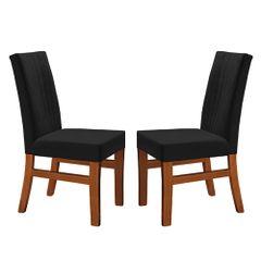 Kit-2-Cadeiras-de-Jantar-Estofada-Preta-em-Veludo-Duz