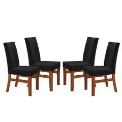 Kit-4-Cadeiras-de-Jantar-Estofada-Preta-em-Veludo-Duz